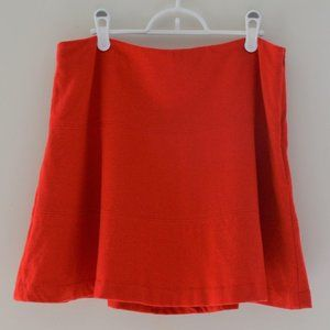 Boden Red A-Line Wool Blend Lined Skirt Size 10P